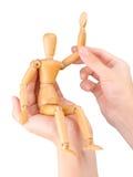 Figura di legno votare Fotografia Stock