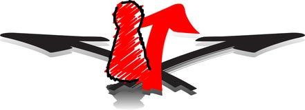 Figura di Ludo e 3 frecce Immagine Stock