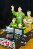 Figura di Mao Tse-Tung in automobile del giocattolo Fotografie Stock