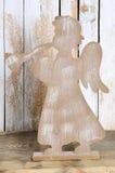 Figura di Natale di un angelo con una tromba Fotografia Stock