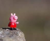 Figura di Pepa Pig animazioni dal Regno Unito del panettiere Davies/spettacolo uno di Astley, Immagini Stock