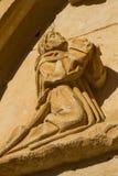 Figura di pietra di un monaco. Monastero di Sandoval. Leon. La Spagna Fotografia Stock Libera da Diritti