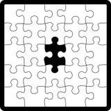 Figura di puzzle Fotografie Stock