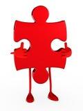 Figura di puzzle Fotografie Stock Libere da Diritti