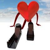 Figura di salute del cuore nella posizione di inizio Fotografia Stock