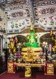 Figura di seduta di Buddha della giada immagini stock libere da diritti