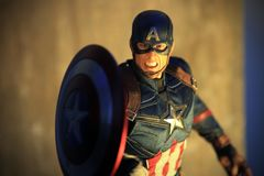 Figura di superheros di capitano America Civil War immagini stock