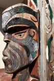 Figura di un fronte maschio maori Fotografia Stock Libera da Diritti