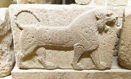 Figura di un leone di urlo Immagini Stock