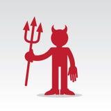Figura diablo rojo Fotografía de archivo