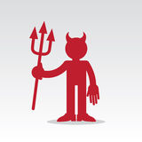 Figura diavolo rosso Fotografia Stock