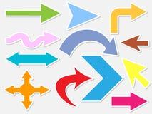 Figura differente delle frecce Fotografie Stock Libere da Diritti