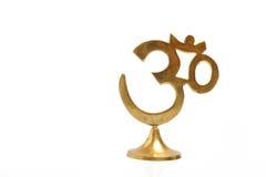 Figura do aum indiano dourado do símbolo Foto de Stock Royalty Free