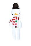Figura do boneco de neve no fundo branco Imagens de Stock Royalty Free