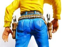 Figura do brinquedo do cowboy fotografia de stock