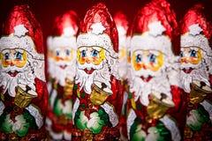Figura do chocolate de Santa Claus Imagem de Stock Royalty Free