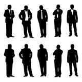 Figura do homem de negócio, silhueta Fotografia de Stock