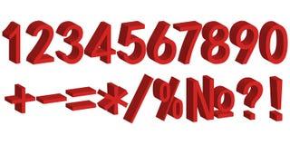 figura do número 3D para liquidações totais ilustração do vetor