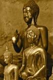 Figura do ouro da Buda Imagem de Stock Royalty Free