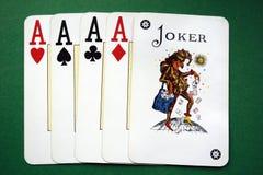 Figura do póquer - póquer fotografia de stock