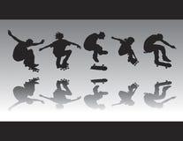 A figura do patim mostra em silhueta II Imagens de Stock Royalty Free