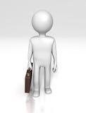 Figura do trabalhador de escritório (com trajeto de grampeamento) Imagens de Stock