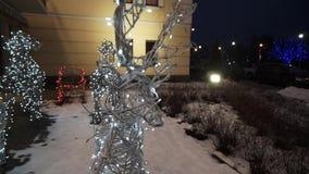 Figura do veado do Natal vídeos de arquivo