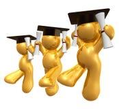Figura doble del icono de la graduación del grado libre illustration