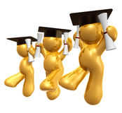 Figura dobro do ícone da graduação do grau ilustração royalty free