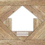 Figura domestica di struttura di legno. Immagini Stock