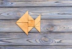 Figura dos peixes dos enigmas de madeira Imagens de Stock Royalty Free