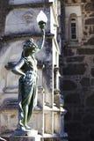 Figura e frammento del palazzo Bussaco della facciata Immagini Stock