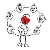 Figura emociones de la serie - rabia del palillo ilustración del vector