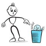 Figura emociones del palillo de la serie - deseche, sorprenda stock de ilustración