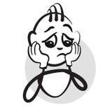 Figura emozioni di serie - dolore del bastone illustrazione vettoriale