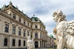 Figura en el belvedere, Viena Fotos de archivo