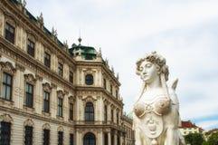 Figura en el belvedere, Viena Imágenes de archivo libres de regalías