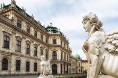 Figura en el belvedere, Viena Fotos de archivo libres de regalías