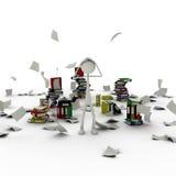 Figura en el caos de documentos libre illustration