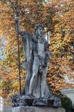 Figura escultural netuno Imagens de Stock