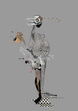 Figura estranha, criatura de vista grávida Fotos de Stock Royalty Free