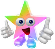 Figura estupenda de la mascota de la estrella 3d Foto de archivo libre de regalías