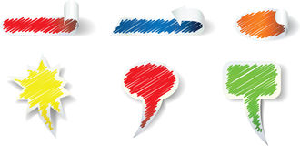 Figura etiquetas do garrancho Fotografia de Stock