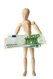 Figura, euro, uno Immagini Stock Libere da Diritti