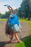 Figura extraña baile del pájaro Fotos de archivo