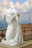 Figura fêmea da escultura em São Marino, Itália Imagem de Stock