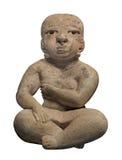 Figura femenina maya antigua aislada Imágenes de archivo libres de regalías