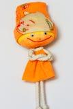 Figura femminile della bambola di pezza. Fotografia Stock Libera da Diritti