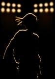 Figura femminile sulla tappa centrale Fotografia Stock