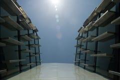 Figura futuristica di architettura Fotografia Stock Libera da Diritti